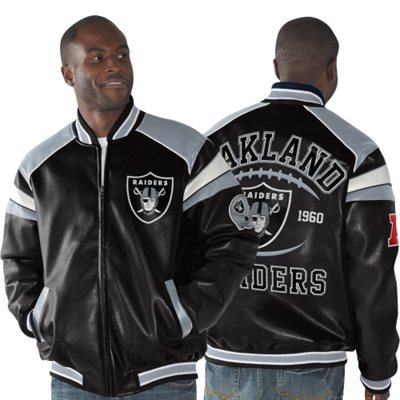 oakland raiders leather jackets