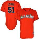 Ichiro Suzuki マイアミ・マーリンズ Majestic Player Authentic ユニフォーム - Orange