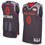 Russell Westbrook Western Conference adidas 2017 NBA All-Star Game Swingman ユニフォーム - Charcoal
